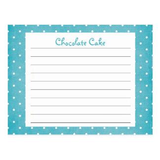 Tarjeta azul gastada de la receta del lunar postal