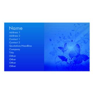 Tarjeta azul mágica del perfil plantillas de tarjetas de visita