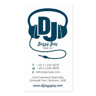 tarjeta azul y blanca del trullo de DJ del promoto Tarjetas De Visita
