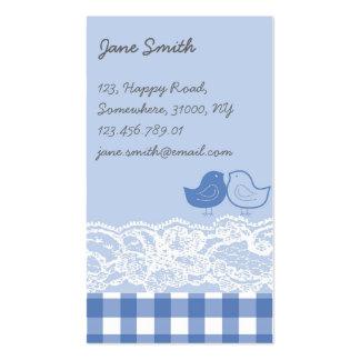 Tarjeta azul y púrpura del perfil del cordón del tarjetas de visita