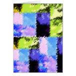 Tarjeta azulverde y púrpura artsy