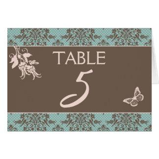 Tarjeta B2 de la tabla del damasco del otoño