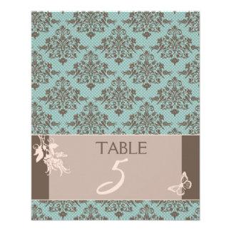 Tarjeta B de la tabla del damasco del otoño Tarjetones