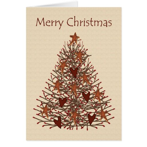 Tarjeta baja de Vision del árbol de navidad primit
