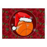 Tarjeta - baloncesto decorativo de Santa