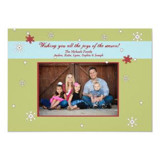 """Tarjeta banal de la foto del copo de nieve invitación 5"""" x 7"""""""