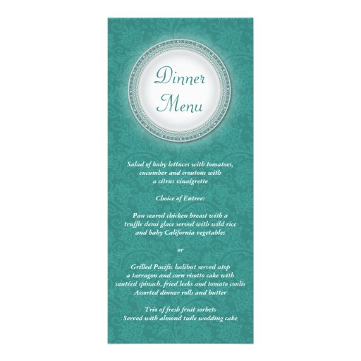 Tarjeta barroca del estante del menú de la placa d lonas