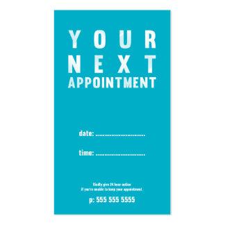Tarjeta básica mínima de la cita en la turquesa tarjetas de visita