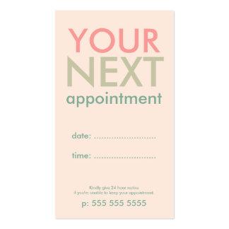 Tarjeta básica mínima de la cita en verde verde tarjetas de visita