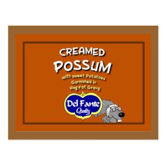 Tarjeta batida de la receta del oposum tarjeta postal