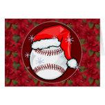 Tarjeta - béisbol decorativo de Santa