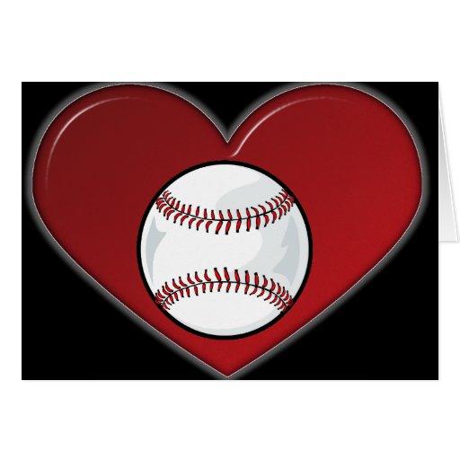 Tarjeta - béisbol del corazón