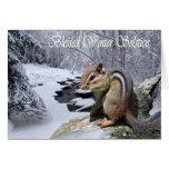 Tarjeta bendecida Pagan del Chipmunk del solsticio