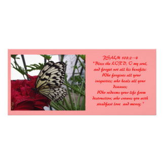 Tarjeta bíblica 1 del estante lonas personalizadas