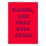 TARJETA BILINGÜE DEL GRADUADO DE DANIEL