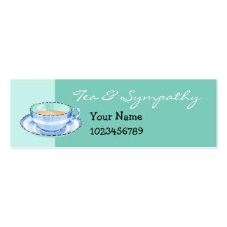 Tarjeta blanca azul de la pequeña empresa del verd tarjetas personales