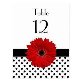 Tarjeta blanca de la tabla del boda del lunar del