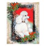 Tarjeta blanca del estilo del vintage del navidad  invitacion personalizada