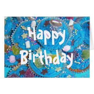 Tarjeta blanca del feliz cumpleaños de las magdale
