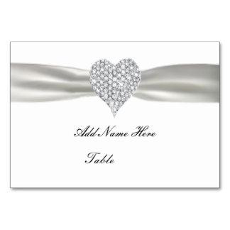 Tarjeta blanca del lugar de la tabla del boda del