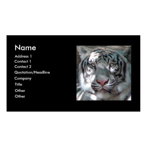 Tarjeta blanca del negocio/del perfil del tigre tarjetas de visita