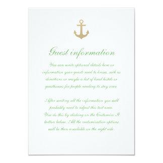 Tarjeta blanca del parte movible del boda de la invitación 11,4 x 15,8 cm
