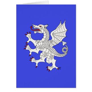 Tarjeta (blanca) desenfrenada del dragón