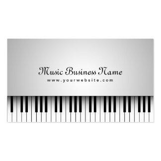 Tarjeta blanca hermosa de la industria musical del tarjetas de visita