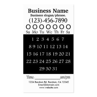 Tarjeta blanca negra de la cita del sacador de tarjetas de visita