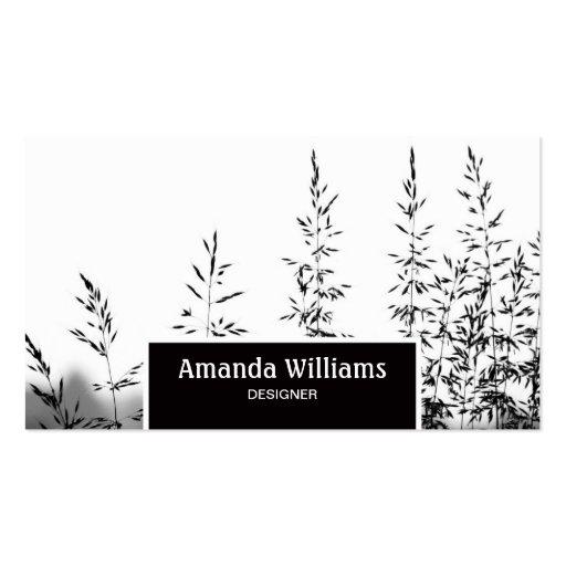 Tarjeta blanca negra moderna hermosa del perfil de tarjetas de visita