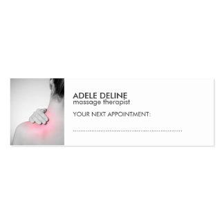 Tarjeta blanca simple de la cita del terapeuta del tarjetas de visita mini