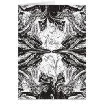 Tarjeta blanco y negro artsy (espacio en blanco de