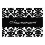 Tarjeta blanco y negro de la cancelación del boda anuncio personalizado
