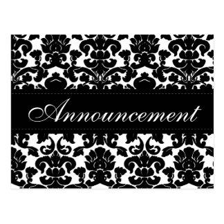 Tarjeta blanco y negro de la cancelación del boda postal
