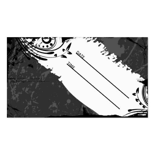 tarjeta blanco y negro de la cita del grunge tarjetas de visita