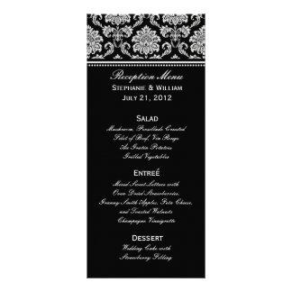 Tarjeta blanco y negro del estante del menú del bo lonas publicitarias