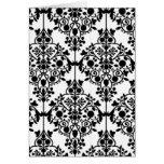Tarjeta blanco y negro del papel pintado del cordó