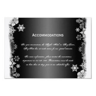 Tarjeta blanco y negro del parte movible del boda invitación 8,9 x 12,7 cm