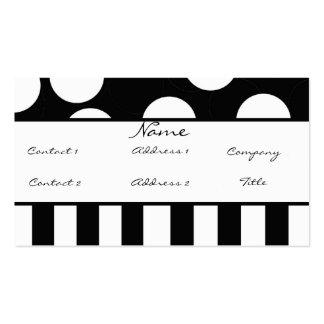 Tarjeta blanco y negro del perfil del lunar tarjetas de negocios