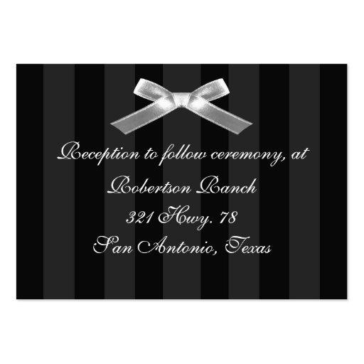 Tarjeta blanco y negro del recinto tarjeta de visita