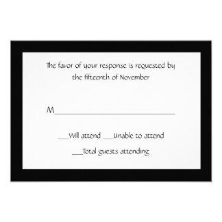 Tarjeta blanco y negro elegante de uso múltiple de invitación