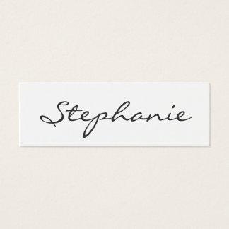 Tarjeta blanco y negro elegante del perfil de la tarjetas de visita mini