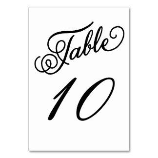 Tarjeta blanco y negro formal del número de la