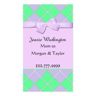 Tarjeta bonita de la mamá plantilla de tarjeta de negocio