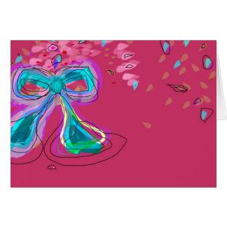 Tarjeta bonita de los >Congratulations del arco
