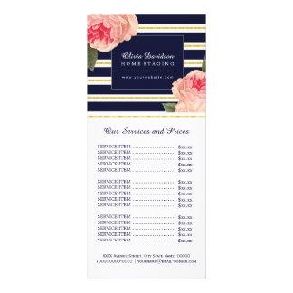 Tarjeta bonita del estante de la lista de precios tarjeta publicitaria personalizada