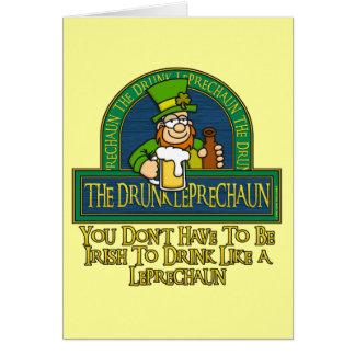Tarjeta borracha del Leprechaun