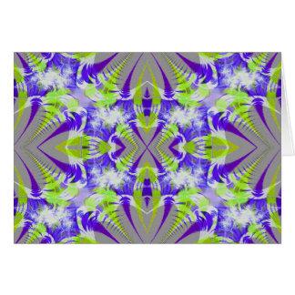 Tarjeta brillante de Greating del fractal
