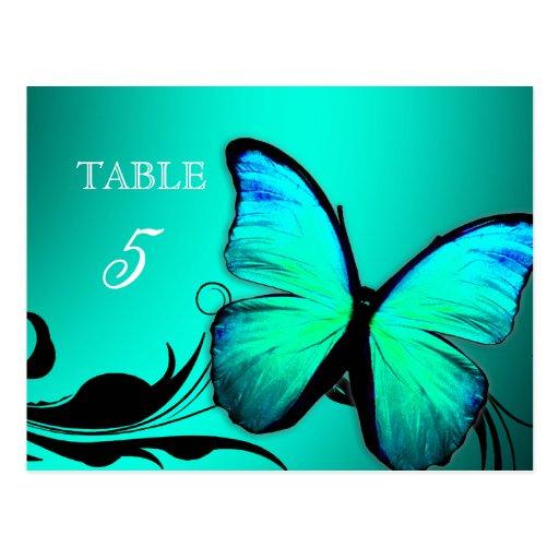 Tarjeta brillante de la tabla de 311 azules turque tarjeta postal