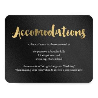 """Tarjeta brillante de los alojamientos del boda de invitación 4.25"""" x 5.5"""""""
